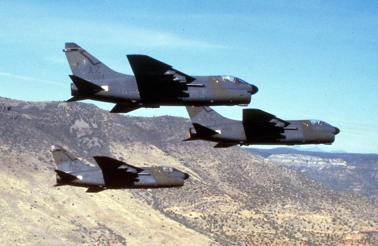 Arizona Air National Guard A-7s.