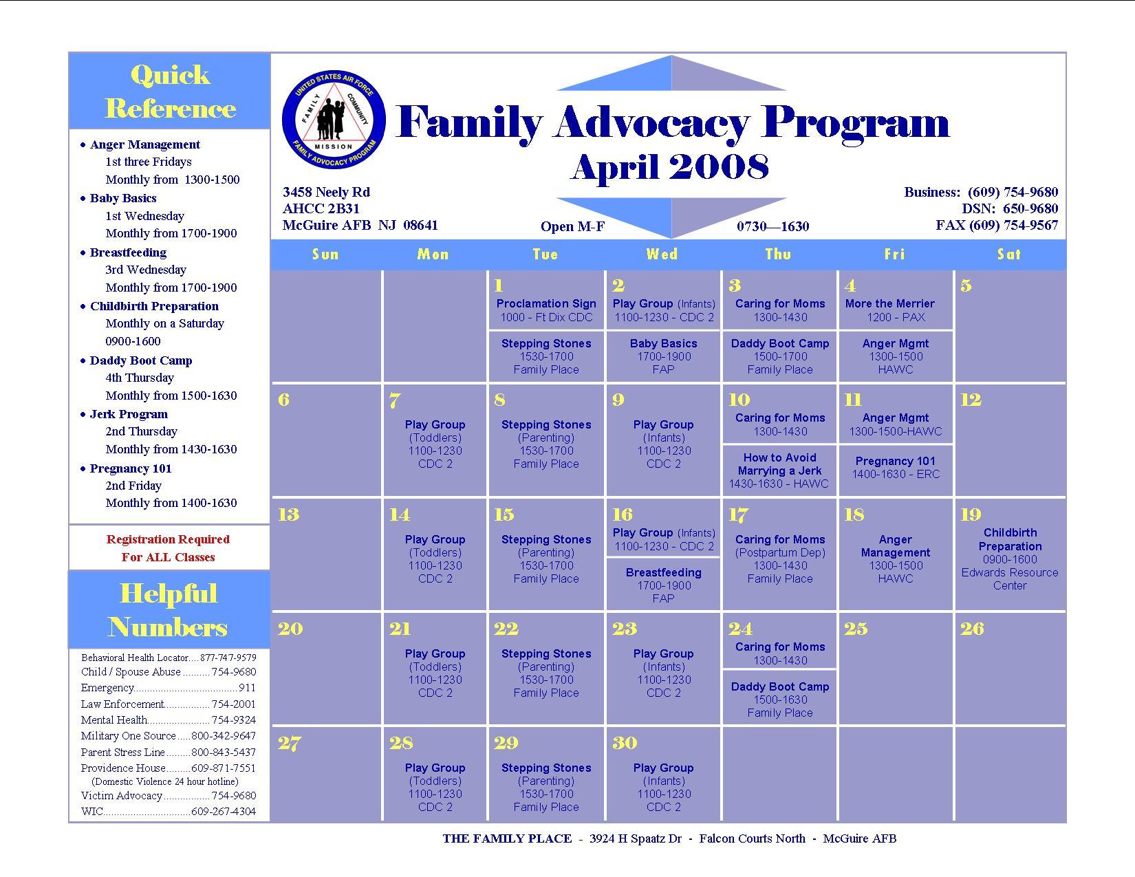 Fap Calendar April