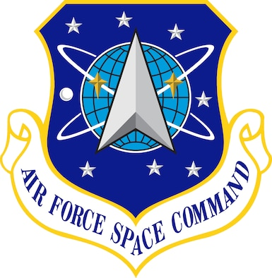 Air Force Space Command Shield (Color). In accordance with Chapter 3 of AFI 84-105, commercial reproduction of this emblem is NOT permitted without the permission of the proponent organizational/unit commander. Image provided by HQ, AFSPC/PAC. Image is 8.2x8.5 inches @ 300 ppi