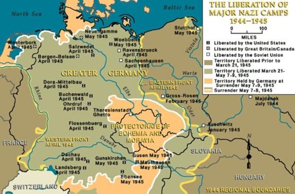 Liberation of major NAZI camps