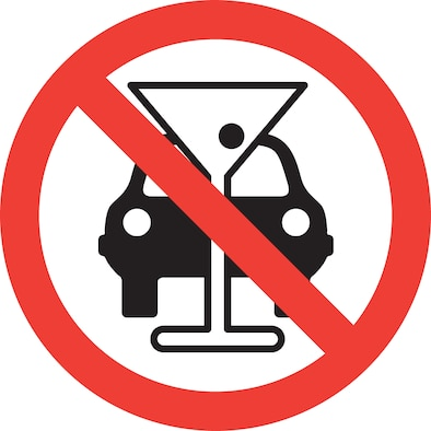 No drinking and driving symbol (©RF/NOVA)
