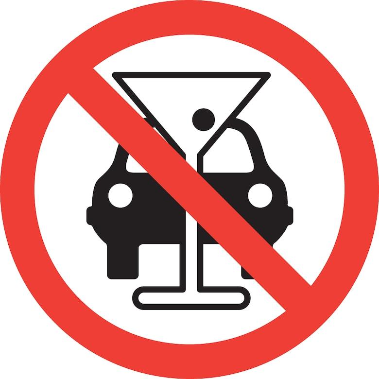 No drinking and driving symbol (©RF/NOVA)
