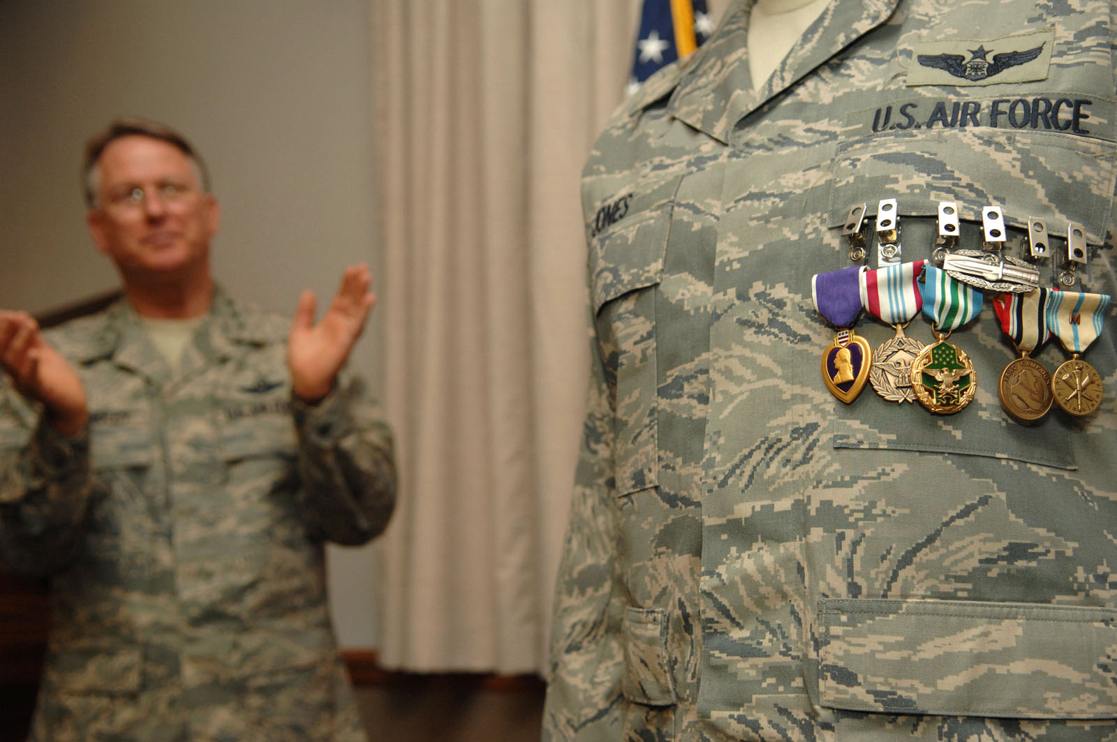 Airman Warrior Receives Purple Heart Five Other Awards