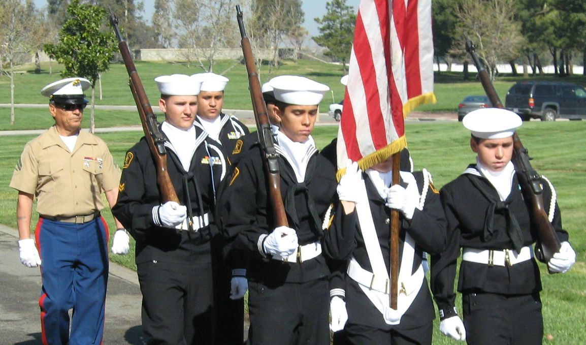 Sea cadets provide funeral honors for deceased veterans