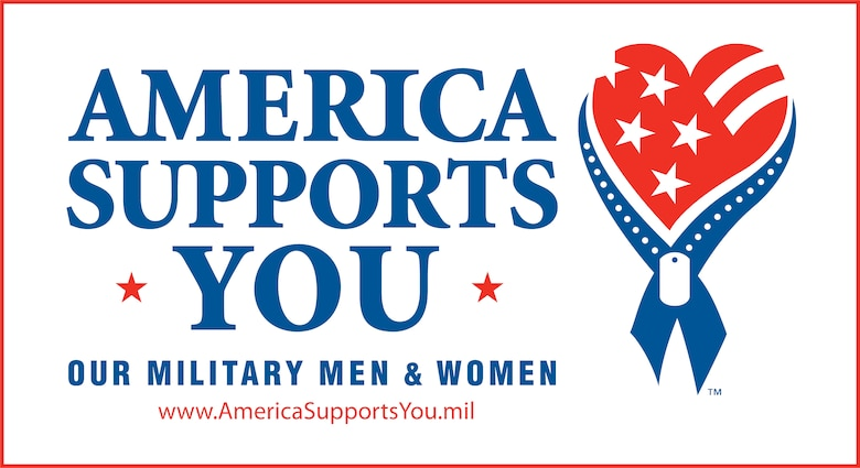 America Supports You is a Defense Department program that provides opportunities for citizens to show support for the U.S. armed forces. Launched in 2004, the program highlights citizen support for the troops and communicates that support to the members of our armed forces at home and abroad.  (DOD illustration)