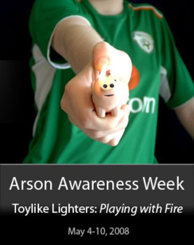 Arson Awareness Week theme: Toylike lighters (Photo courtesy of United States Fire Administration)