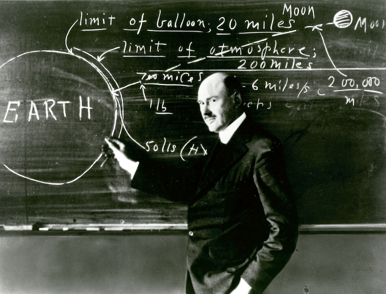 Robert Goddard was a theoretical physicist as well as a talented engineer. He taught at Clark University, Worcester, Mass., beginning in 1914, and became director of the school's Physical Laboratory in 1923.