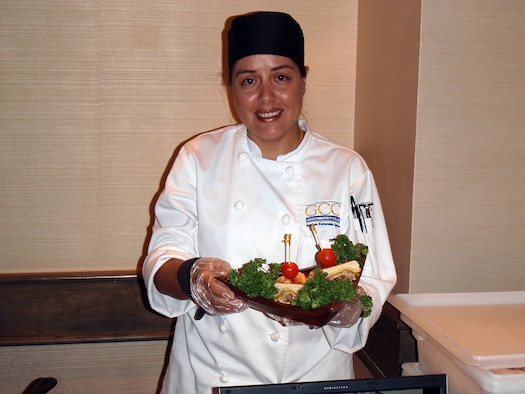 Mrs. Sheila Delagdillo was recently selected to represent Guam Community College at the 11th Annual Pacific Hotel and Restaurant Expo Culinary Arts Competition held at Hyatt Regency Hotel. She showed off her talents making a Cubano Isleno Sandwich. Mrs. Delagdillo will be the first dislocated worker program participant to graduate with an Associate of Arts degree in Culinary Arts in December. (Courtesy photo)