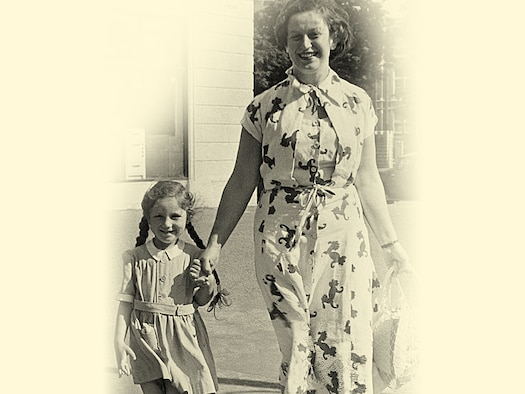 Eva Clarke (aged 5) and her mother, Anka Nathan, in Cardiff in 1950. Eva moved to Cardiff with her mother in 1948, after living with her aunt for three years. Eva's parents, both Jewish, were kept prisoner for three years by the Germans in concentration camps until the U.S. Army liberated the camps in 1945, just days after Eva was born. (Courtesy photo)