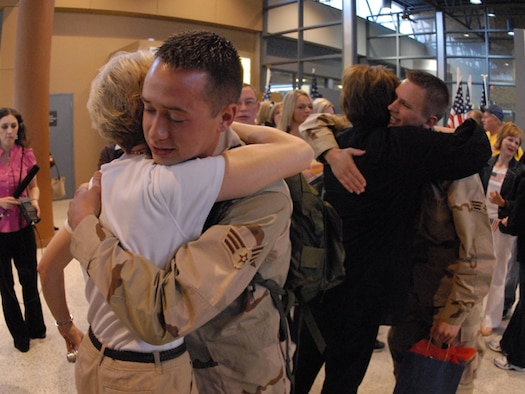 ND Air National Guard Airmen return home from Kuwait.