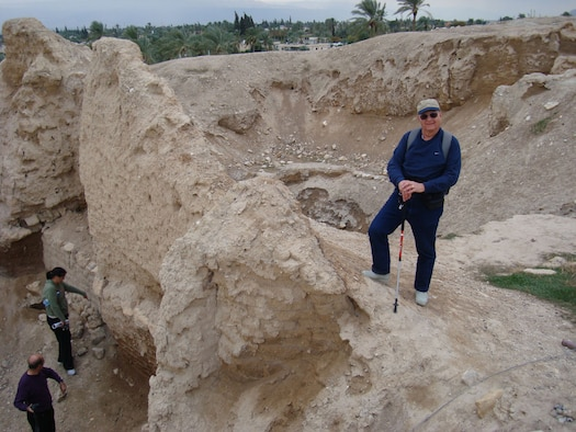 Jim Johnson stands near the 4,000 year-old Walls of Jericho. (Photo provided)