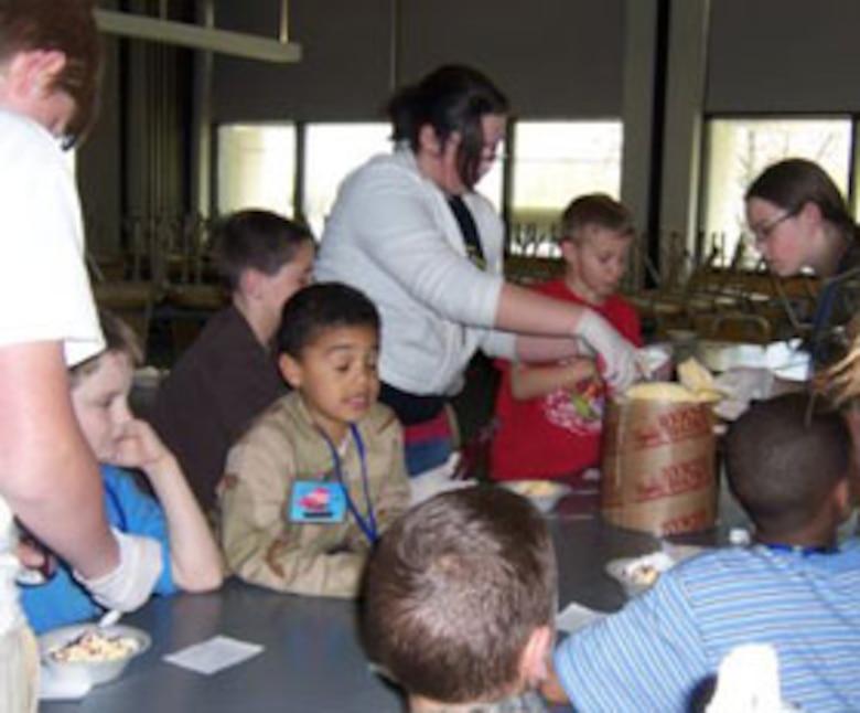 Team building activity- making ice cream sundaes