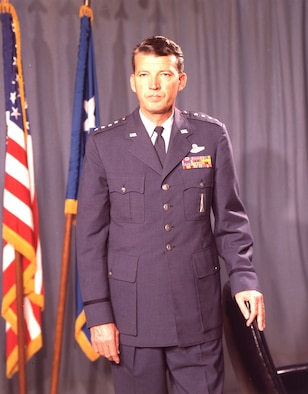 Schriever achieved four-star rank in 1961, and retired in 1966 after 34 years of military service. (U.S. Air Force photo)
