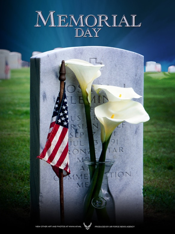 2008 Memorial Day Poster. (Poster created by Virginia Reyes; U.S. Air Force photo/Vance Janes)