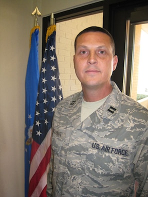 Capt. Monte Buchanan is the 507th Air Refueling Wing Officer of the Quarter for the 2008 first quarter.