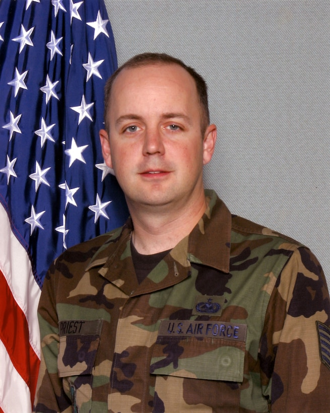 WARRIOR OF THE WEEK -- Tech. Sgt. David Priest, an assistant Non-Commissioned Officer in Charge of Logistics at Detachment 3/ADF-C is Team Buckley's Warrior of the Week for Oct. 31 to Nov. 6. Sergeant Priest calls the birthplace of the Oldsmobile home, Lansing, Mich. (Courtesy photo)