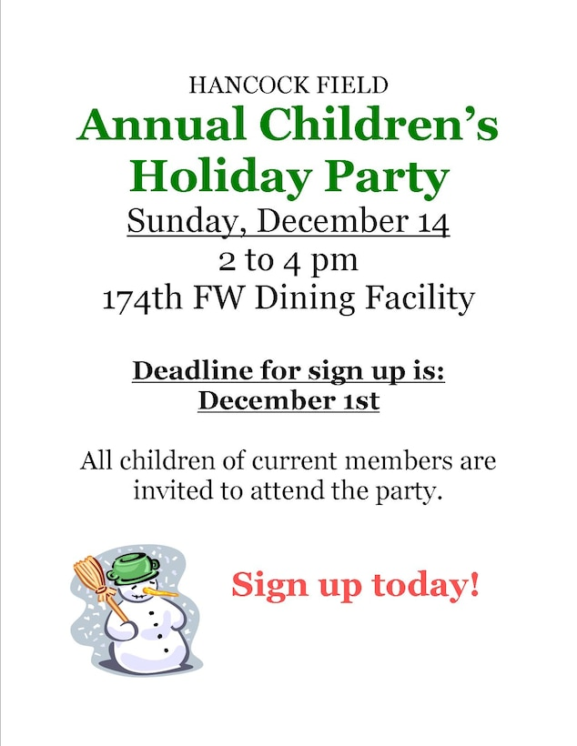 Children's Christmas Party Flyer