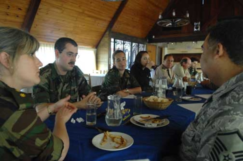 during Operation Southern Partner, Nov., 3, 2008. OSP is an in-depth, two-week subject matter exchange emphasizing partnership, cooperation and sharing of information with partner nation Air Forces in Latin America. 