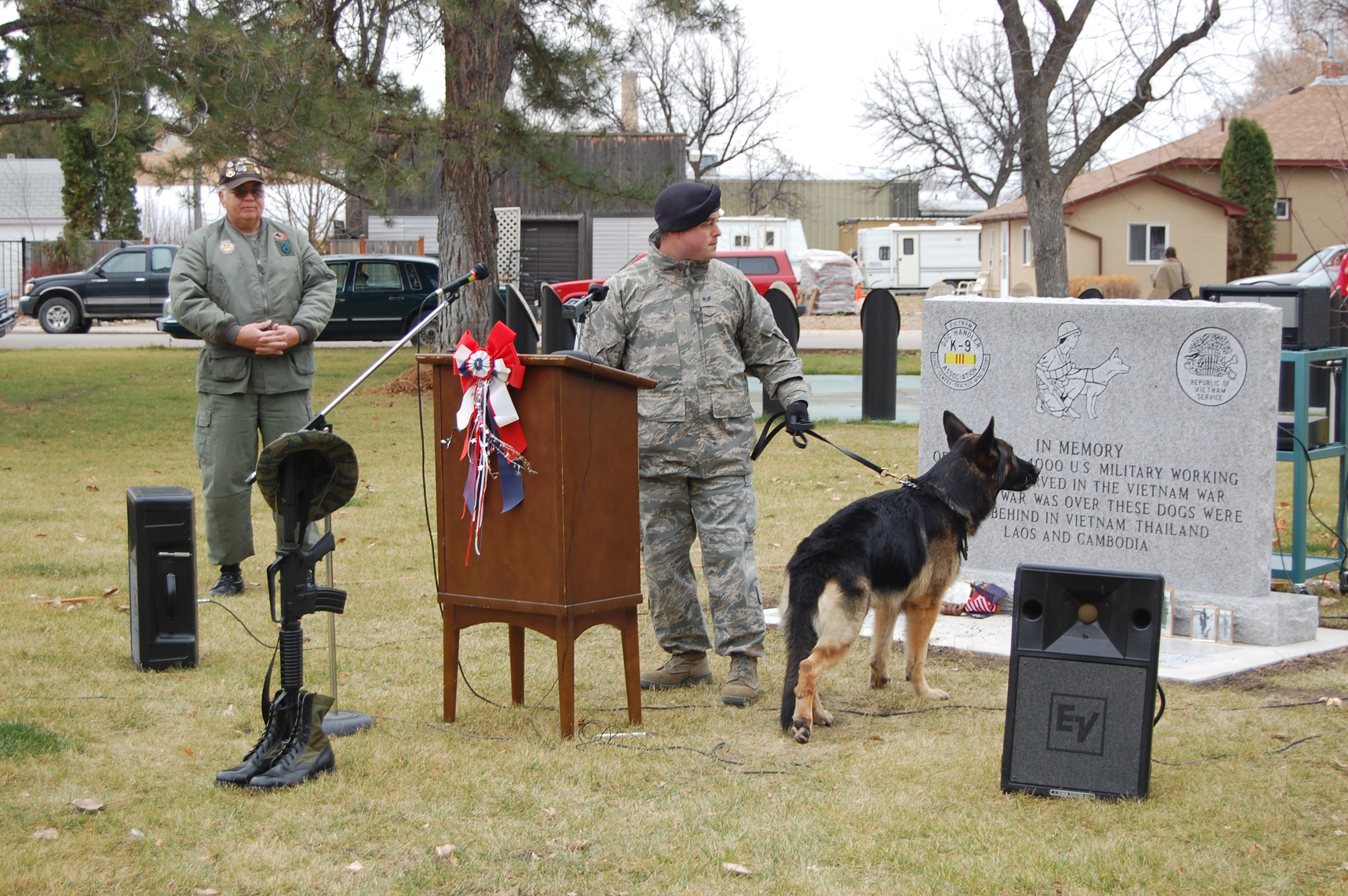 Malmstrom's top cop honors veterans - 2-legged and 4-legged