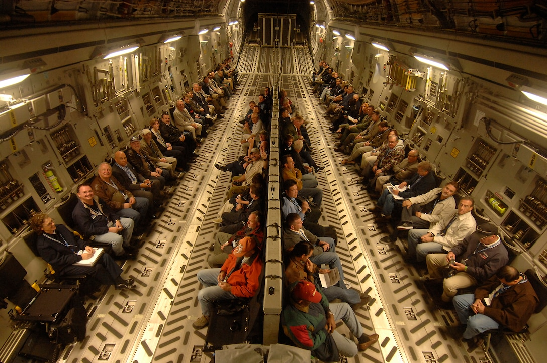 Area civic leaders had the opportunity to take a ride on a C-17 during a refueling mission from March ARB, Nov. 10. Held as part of Air Force Week in Southern California, the flight provided a chance for community members to learn more about the Air Force's people and mission.  (Photo by Joe Juarez)