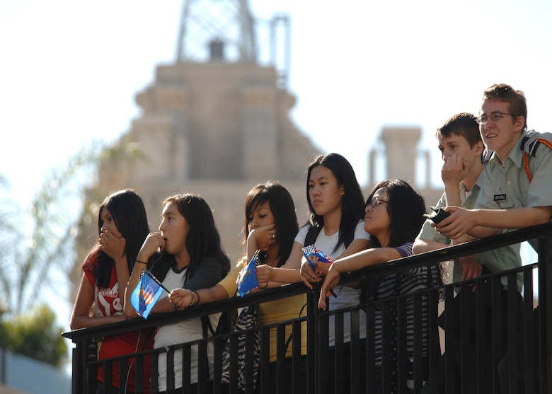 Onlookers gather to view the Los Angeles Air Force week opening ceremony on Nov. 14 at the Hollywood & Highland Center's central courtyard. (Photo by Atiba S. Copeland)