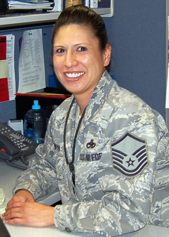 TEAM BUCKLEY WARRIOR OF THE WEEK -- Master Sgt. Lisa Rendon from the 566th Intelligence Squadron is Team Buckley's Warrior of the Week for Nov. 14 - 20. Sergeant Rendon enjoys traveling, reading, working out, playing softball and skiing. She calls Imlay City, Mich., home. (Courtesy photo)