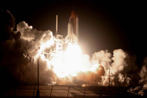 STS-126 launch of Space Shuttle Eneavour.  Photograph courtesy of Carleton Bailie