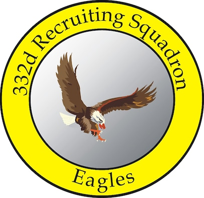 332nd Recruiting Squadron Shield. (U.S. Air Force graphic)