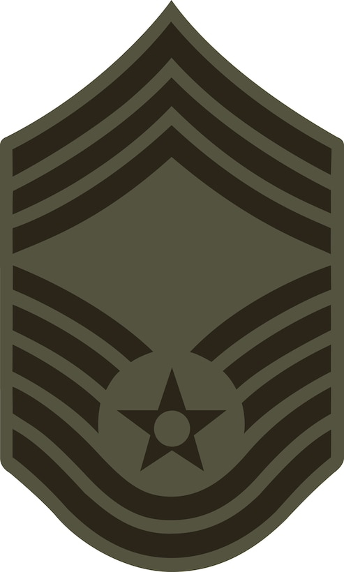 Chief Master Sergeant, E-9 (ABU color). This graphic is provided by Defense Media Activity-San Antonio and is 5x8.3 inches @ 300 ppi.