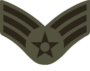 Senior Airman stripes (SrA), E-4 (ABU color).  This graphic is provided by Defense Media Activity-San Antonio and is 5x4 inches @ 300 ppi.