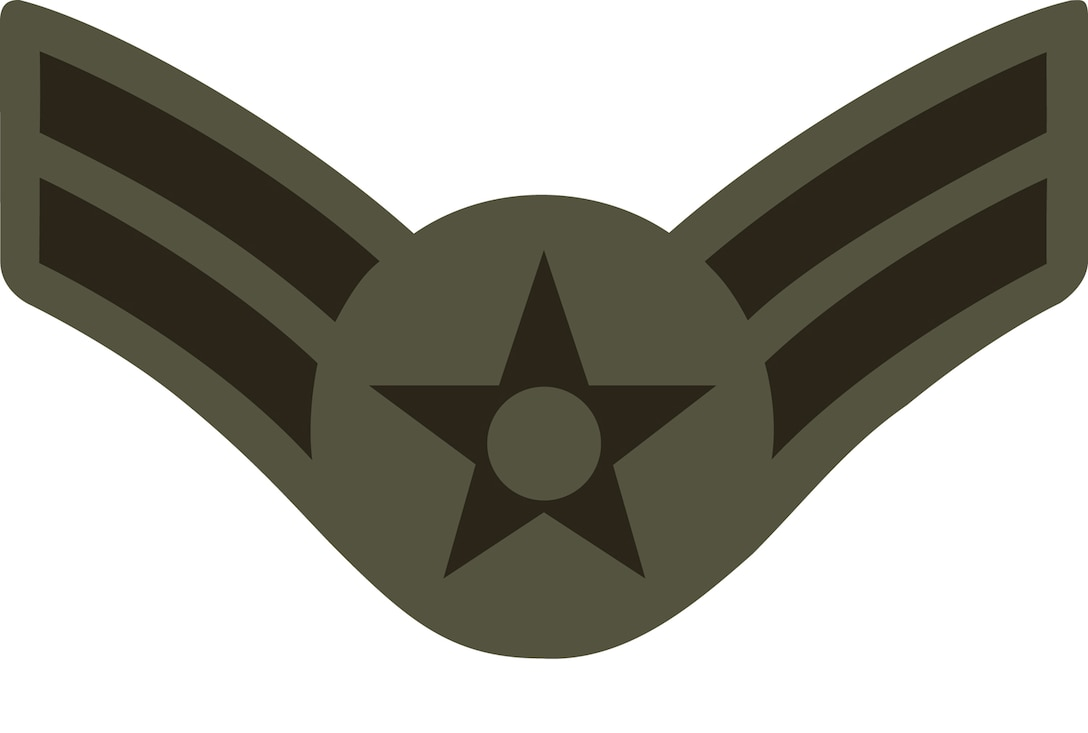 Airman 1st Class (A1C), E-3 (ABU color).  This graphic is provided by Defense Media Activity-San Antonio and is 5x3.4 inches @ 300 ppi.