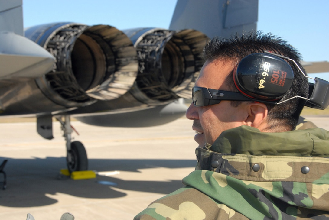 WILLIAMTOWN, AUSTRALIA -- Master Sgt. Paul Tan of the 154th Wing Maintenance Group supervises preflight operations during Sentry Down Under in Williamtown, Australia.