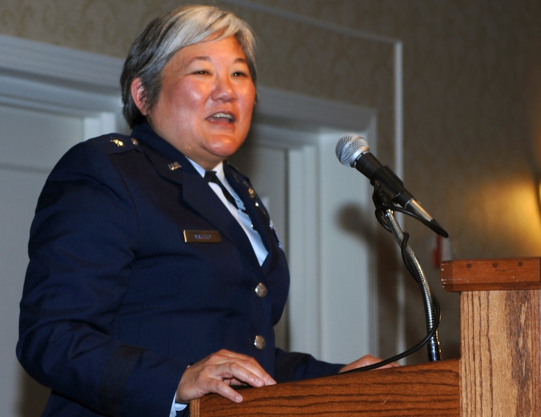 Brig. Gen. Susan Mashiko, SMC vice commander, was the keynote speaker at the recent South Bay Economic Forecast Conference held at the Torrance Marriott. (Photo by Atiba Copeland)