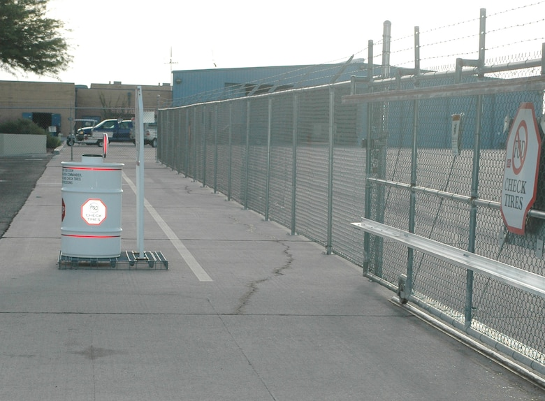 The new south munitions gate and sensor pad were installed and paid for with Repair Enhancement Program funds.