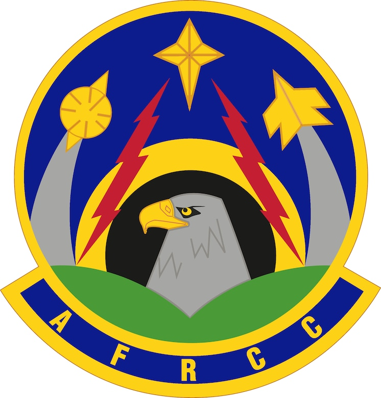 Air Force Rescue Coordination Center (color).  Image provided by the Air Force Historical Research Agency. In accordance with Chapter 3 of AFI 84-105, commercial reproduction of this emblem is NOT permitted without the permission of the proponent organizational/unit commander. Vector image created from a raster image by Andy Yacenda of the Defense Media Activity. Image is 7x7 inches @ 300 ppi