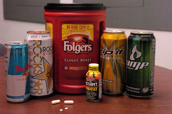 Various forms of caffeine available on base.