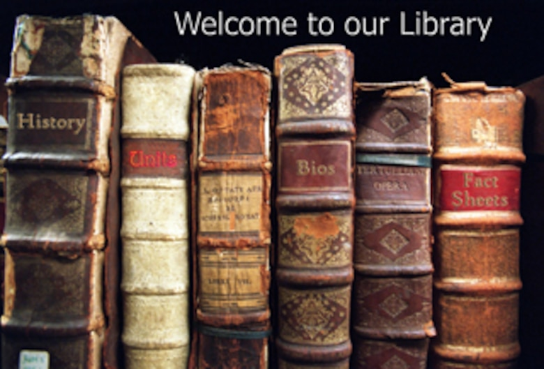 Library Web page teaser. (U.S. Air Force graphic/Stephen Collier)