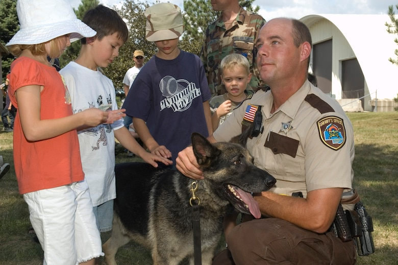 The 133rd Airlift Wing, St. Paul, Minn., held its annual Family Day on Aug. 16, 2008. Activities included a rock climbing wall, a K-9 demonstration from the Hennepin County Sherriff's office, games and pony rides.