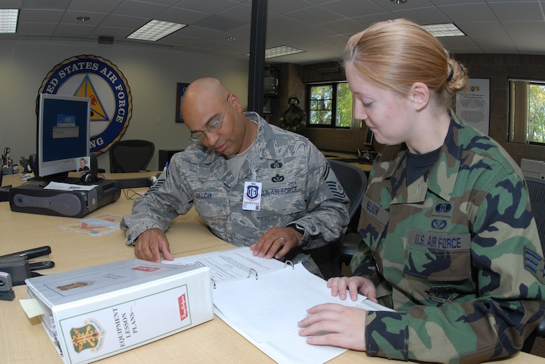 An airman from 119th Wing Emergency Management work with the UCI team during the inspection at the N.D. Air National Guard on Sept 19.