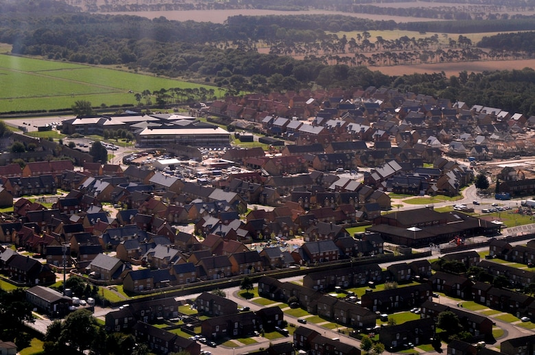 Liberty Village is the new base housing on RAF Lakenheath, England. Residents interested in base housing should contact the housing office. (U.S. Air Force photo by Airman 1st Class Perry Aston)