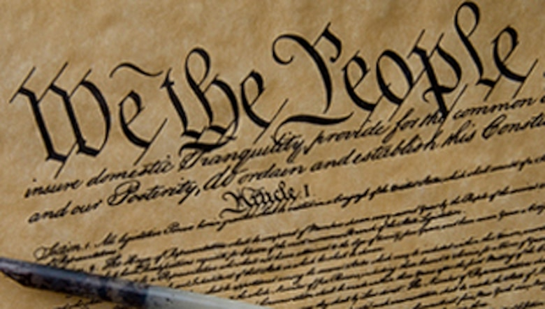 The Department of Defense observes Constitution Day and Citizenship Day Sept. 17 to commemorate the signing of the U.S. Constitution in Philadelphia on that day in 1787. (U.S. Air Force illustration/James Borland)
