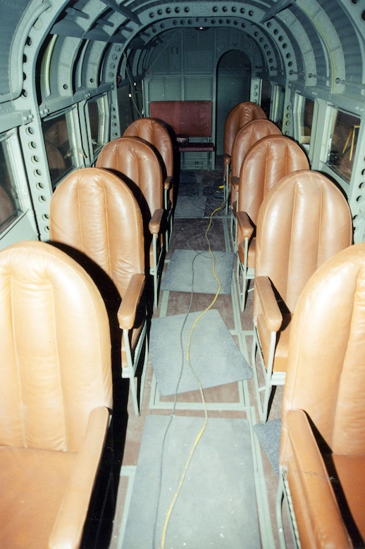 Interior view of the Junkers Ju-52. (U.S. Air Force photo)