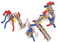 The future playground, which will replace Wacky World, may resemble this illustration. McGuire plans to replace Wacky World with a new and improved system that is more durable and up to date. (U.S. Air Force courtesy graphic)