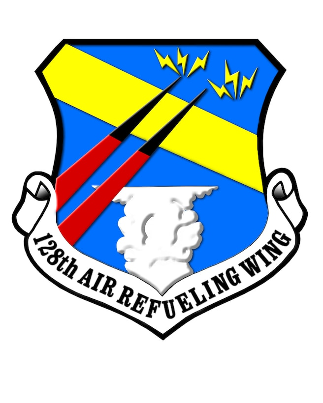 Official crest of the 128th Air Refueling Wing based in Milwuakee Wisconsin