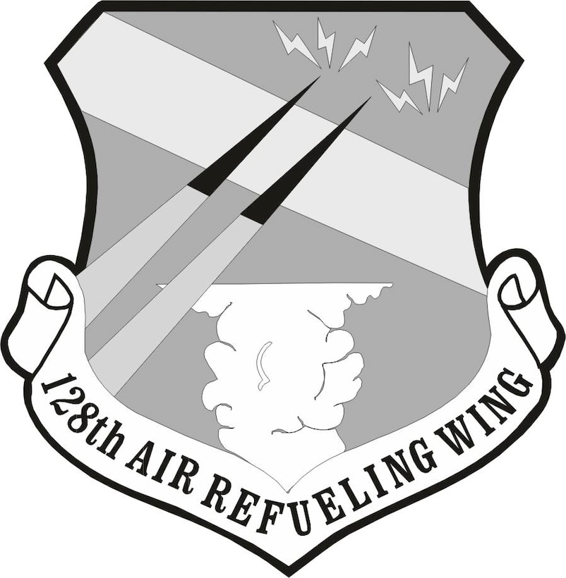 126th Air Refueling Wing black and white image