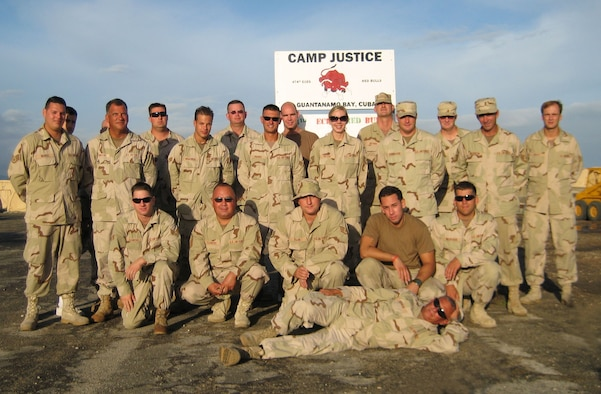 Members of the 128th Air Refueling Wing's Civil Engineering Squadron were an instrumental  part of the team that helped construct  the Expeditionary Legal Complex for the Military commissions on McCalla Airfield , Guantanamo Bay.