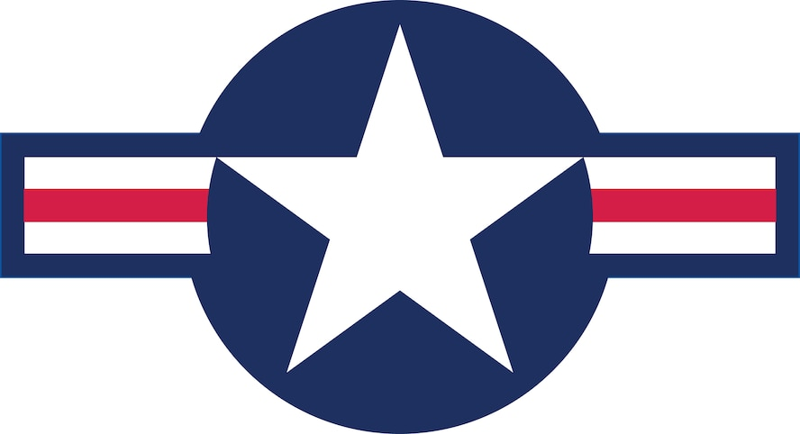 Air Force Roundel (Color).  This roundel, also referred to as the National Star Insignia, is to be used in applications when camouflage is not required.  The attached eps file is a vector illustration which can be enlarged to any size without loss of detail or image quality and the background is opaque.  The colors are PMS representations of the paint color specifications as contained in TO 1-1-4.