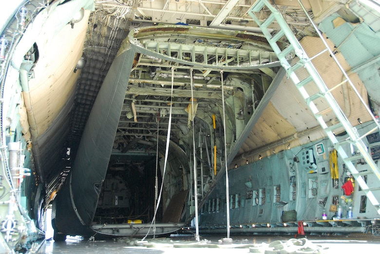STRATTON AIR NATIONAL GUARD BASE, N.Y. -- Guardsmen spent more than two years planning the details of getting the C-130 fuselage transported via C-5 to the base here.