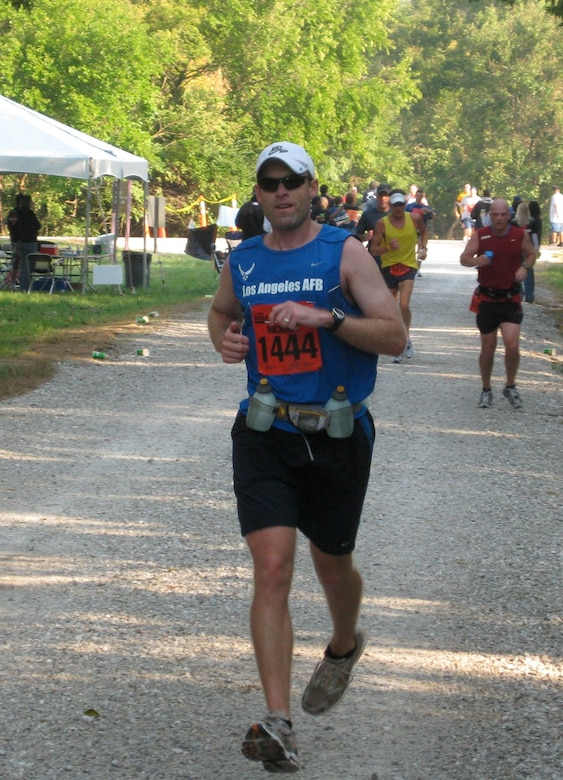 Maj. Mike Reed ran the marathon in 3 hours,  29 minutes.