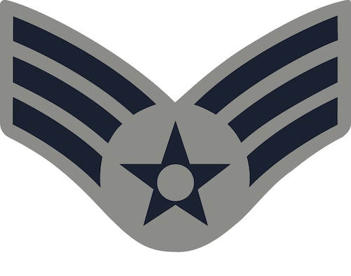 Senior Airman, E-4, (ABU color), U.S. Air Force graphic
